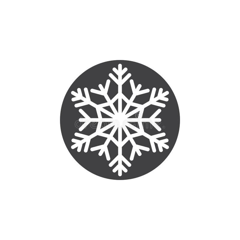 Kaltes Symbol, Schneeflockenikonenvektor, Füllte Flaches Zeichen ...