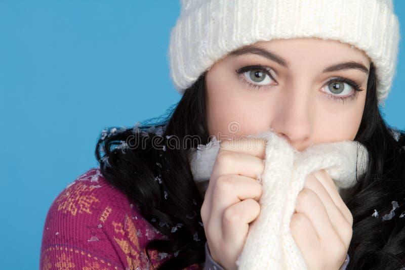 Kaltes Winter-Mädchen lizenzfreies stockbild