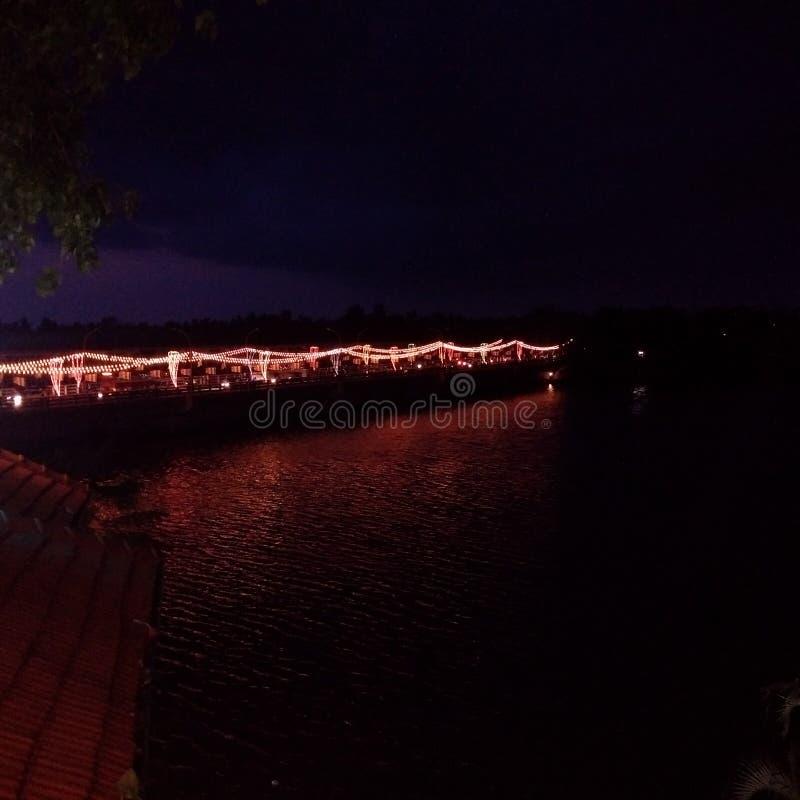 Kalutara-Brücken-Nachtszene stockbild