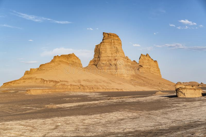 Kaluts in Lut desert, Iran.  royalty free stock photography