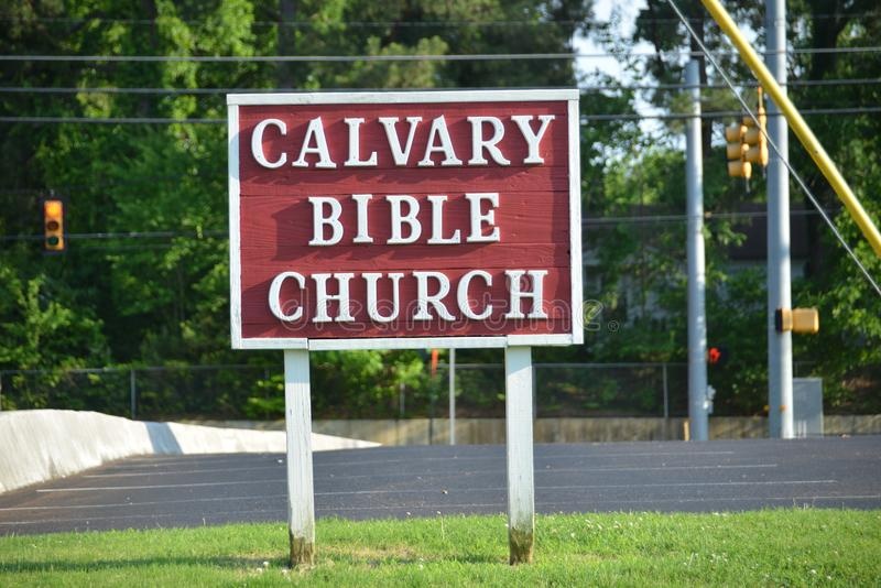Kalvarienberg Baptist Church, Covington, TN lizenzfreie stockfotografie