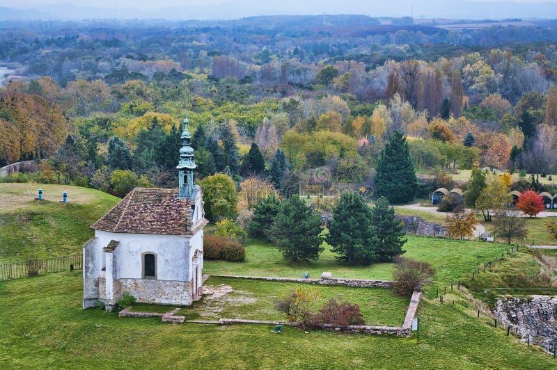 Kalvarienbergkapelle in Tata, Ungarn stockbilder