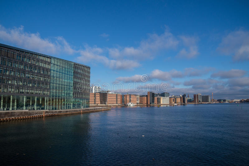 Kalvebod Brygge, bord de mer de Copenhague, Danemark photographie stock