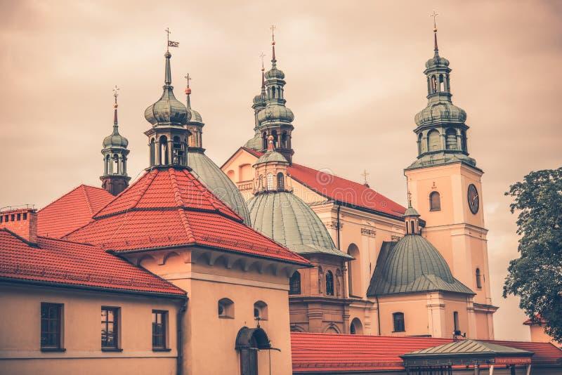 Kalwaria Zebrzydowska kloster royaltyfria bilder