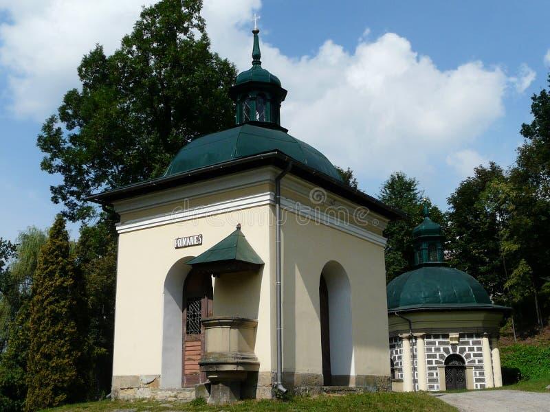 KALWARIA ZEBRZYDOWSKA uno de las capillas en el Kalwaria fotografía de archivo libre de regalías