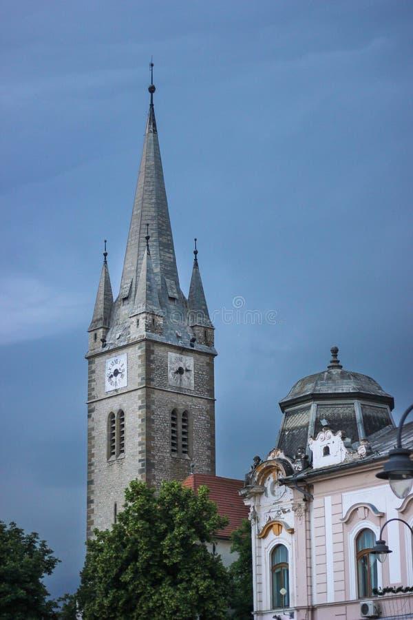 Kalwinu kościół w Turda, Cluj okręg administracyjny, Rumunia fotografia stock