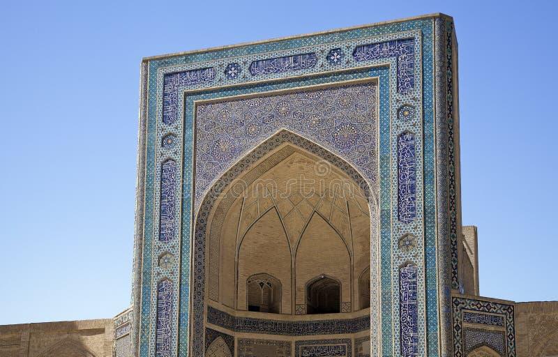 Kalyan清真寺,布哈拉,乌兹别克斯坦 库存照片