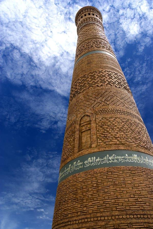 kalyan минарет uzbekistan стоковая фотография
