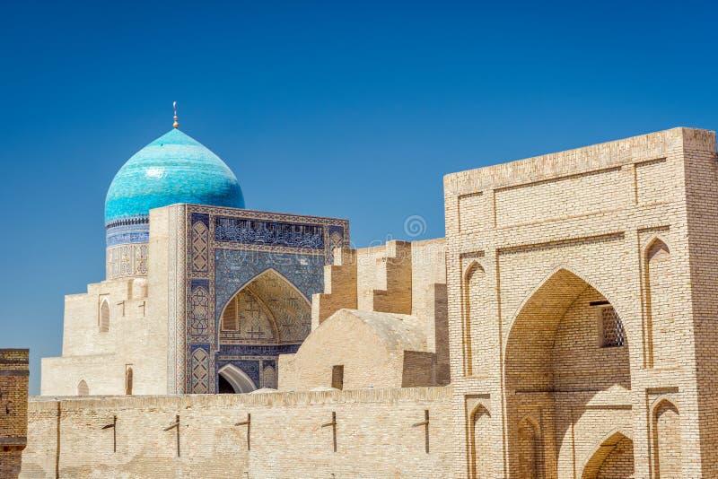 Kalyan meczet i ściana, Bukhara zdjęcie stock