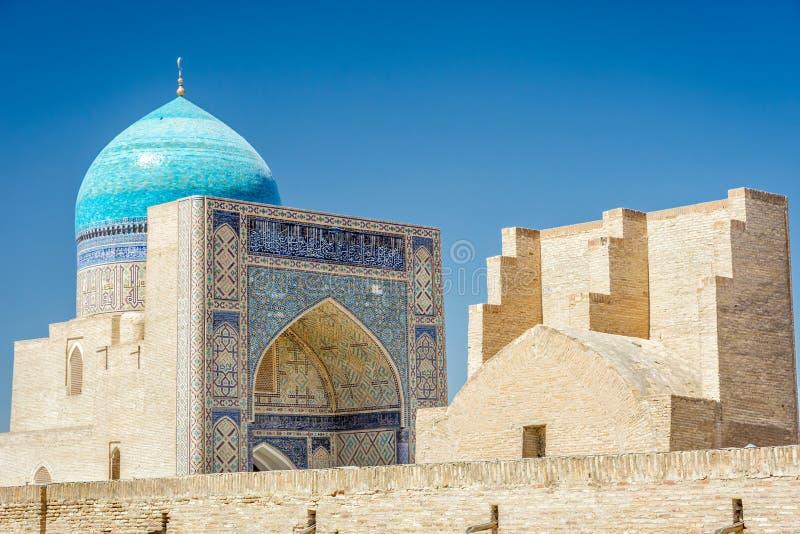 Kalyan meczet i ściana, Bukhara obraz royalty free
