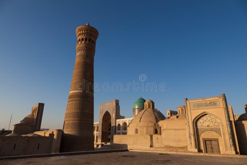 Kalyan meczet w Bukhara i minaret, Uzbekistan fotografia royalty free