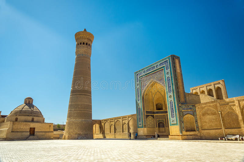 Kalyan Minaret, Buchara, l'Uzbekistan fotografia stock