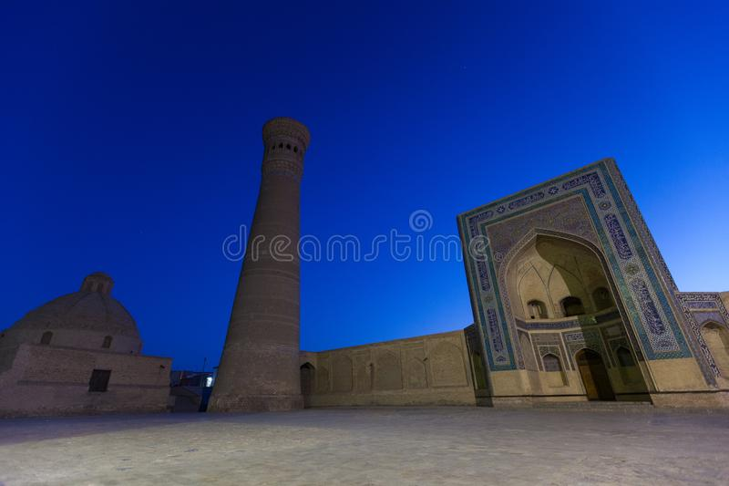 Kalyan Minaret and Mosque in Bukhara, Uzbekistan stock photography