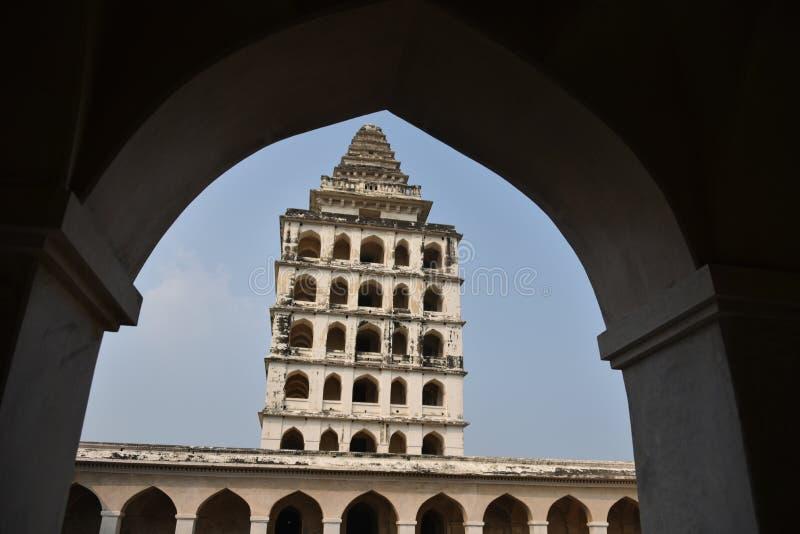 Kalyana Mahal przy Gingee fortem lub Senji fortem, tamil nadu obraz stock