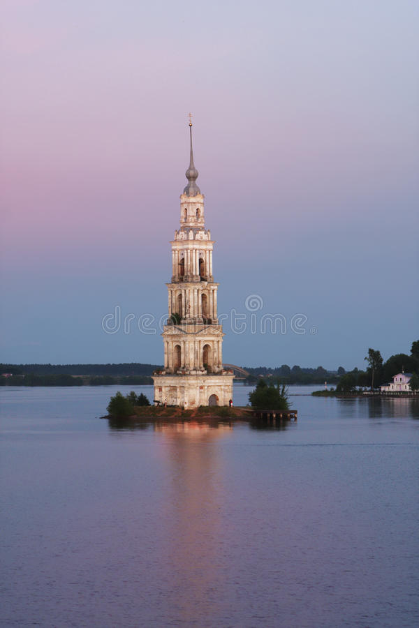 Kalyazin bell tower stock images