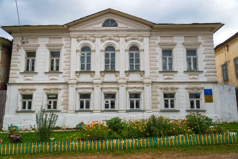 Kalyazin, Tver region, Russia, September 20, 2018: city comprehensive school, a cultural heritage object of 19th century. Kalyazin, Tver region, Russia stock photo