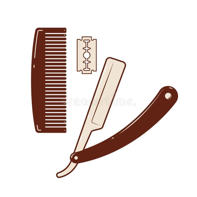 Kam & scheermes vector illustratie