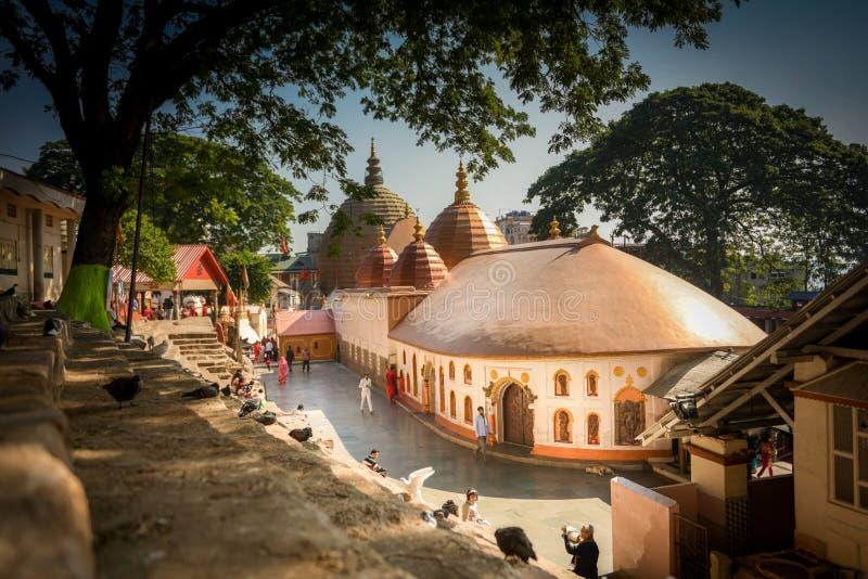 Kamakhya寺庙在高哈蒂印度 库存图片
