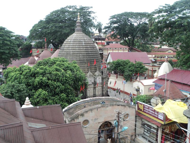 Kamakhya tempel Guwahati Asam, Indien arkivfoto