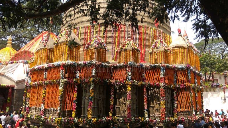 Kamakhya tempel, Guwahati, Assam arkivfoton