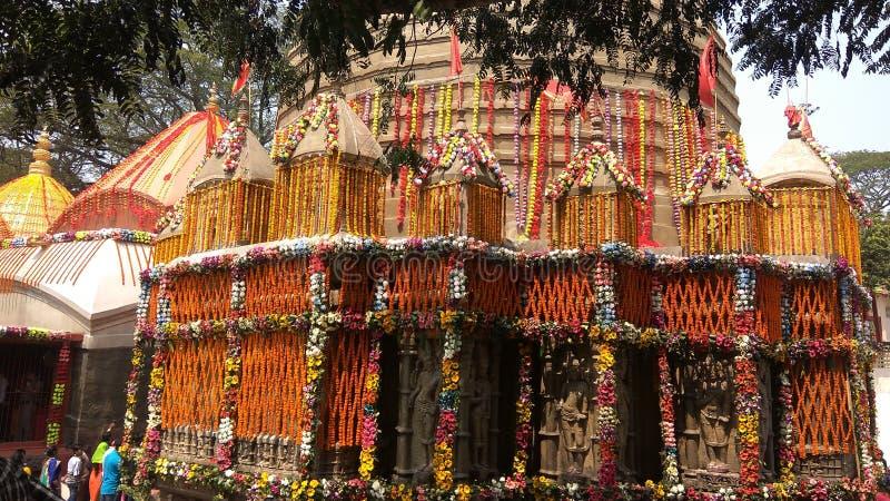 Kamakhya tempel, Guwahati, Assam royaltyfri bild