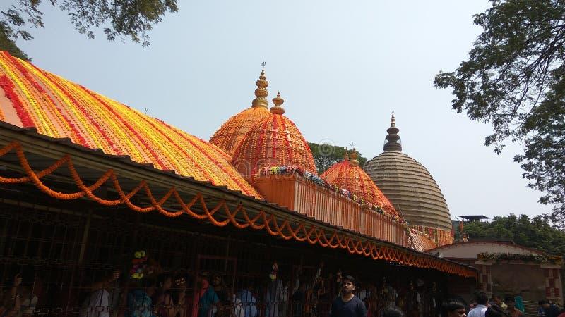 Kamakhya tempel, Guwahati, Assam arkivbilder
