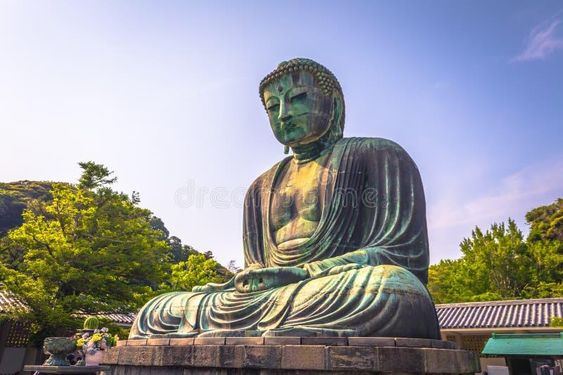 Kamakura - 6. Juni 2019: Große Buddha-Statue in Kotoku-im buddhistischen Tempel in Kamakura, Japan stockfotografie