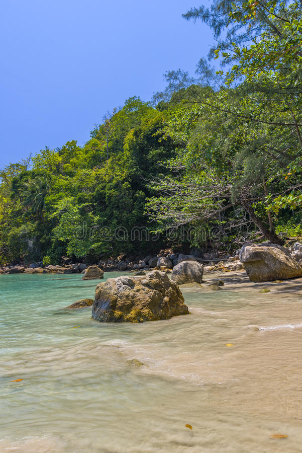 Download Kamala beach stock image. Image of green, long, curve - 83702979