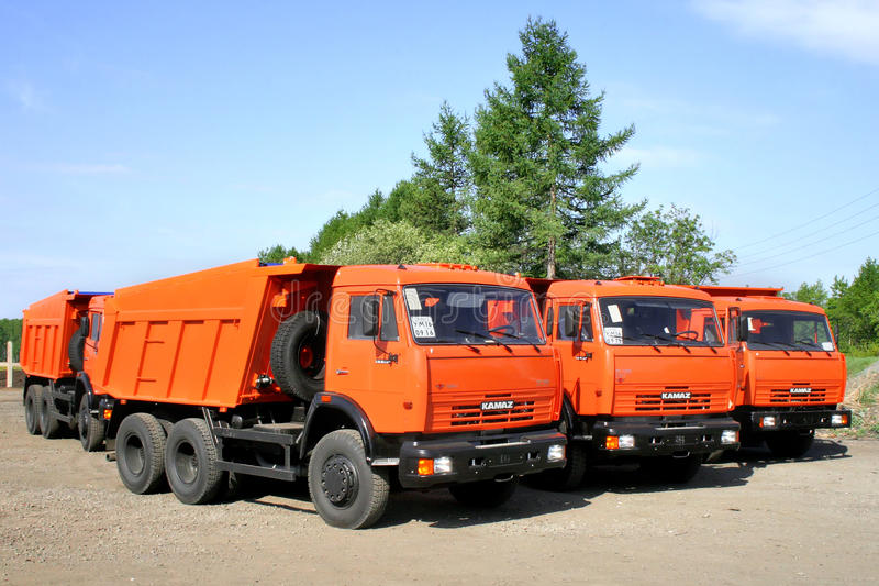 KAMAZ 65115 免版税库存照片