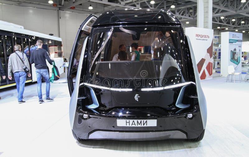 Kamaz Shutle Nami autobus z sztuczną inteligencją fotografia royalty free