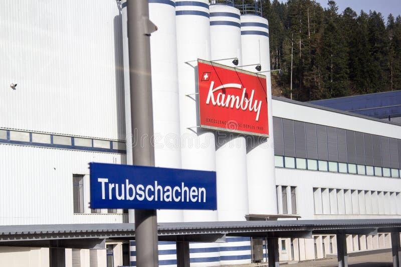 Kambly的工厂,著名饼干生产商在瑞士 库存照片