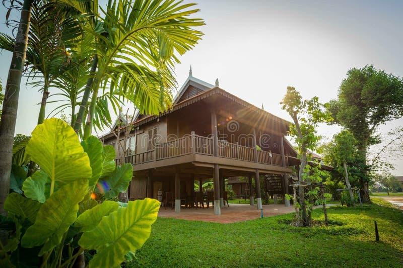 Kambodżański tradycyjny dom zdjęcia royalty free