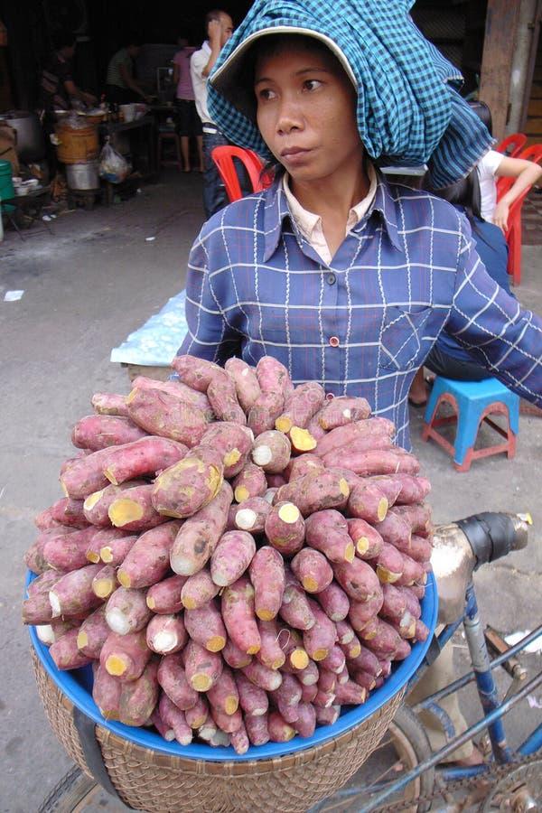 kambodżański uliczny vender obrazy royalty free