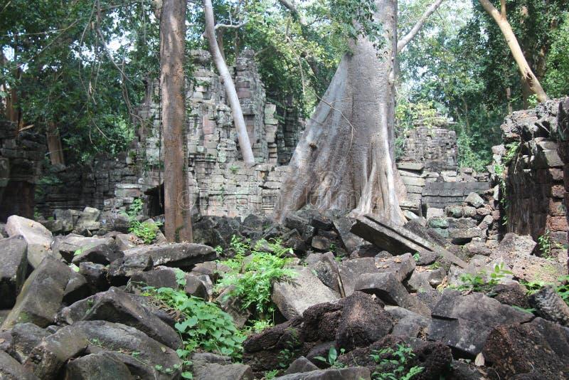 Kambodża Banteay Chhmar świątynia Banteay Meanchey prowincja Sisophon Sity fotografia stock
