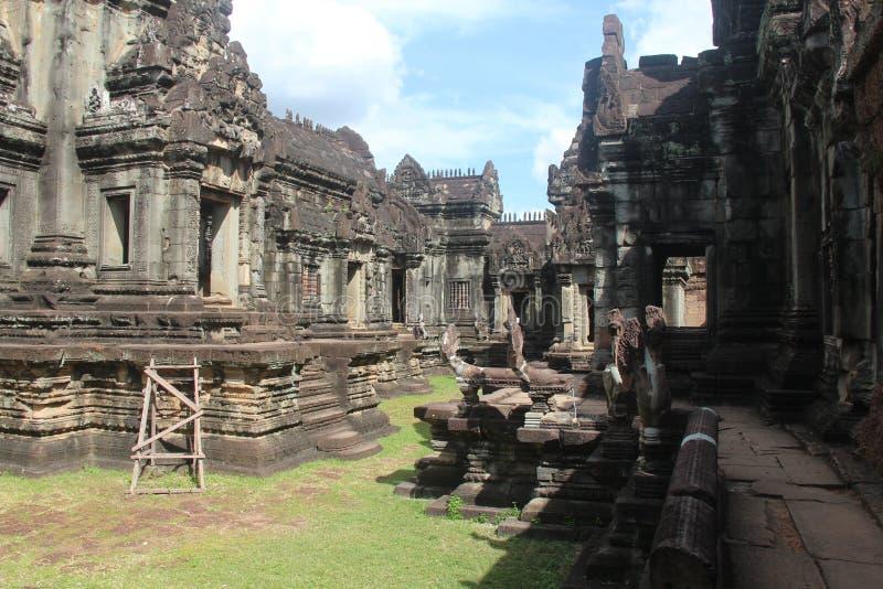 Kambodża Banteay Samre świątynia Siem Przeprowadza żniwa miasto Siem Przeprowadza żniwa prowincję obrazy stock
