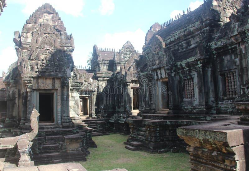 Kambodża Banteay Samre świątynia Siem Przeprowadza żniwa prowincję Siem Przeprowadza żniwa miasto obraz stock