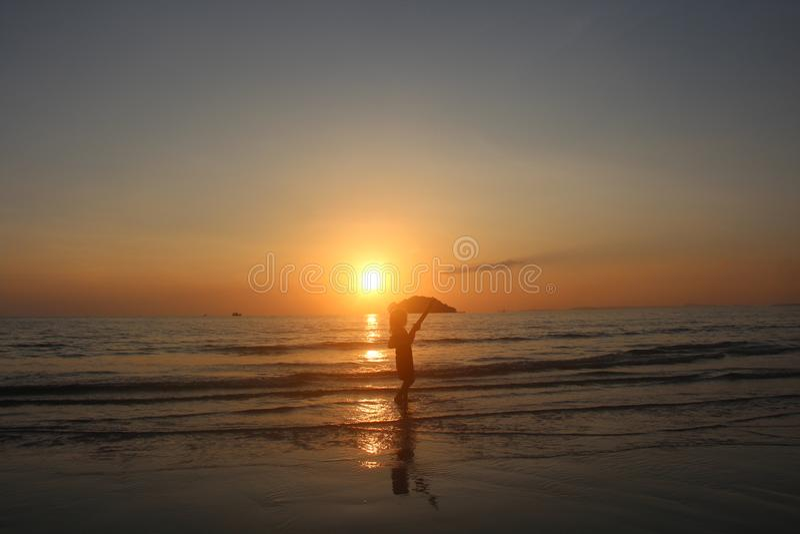 Kambodża zatoka Thailand Otres plaża Sihanoukville miasto fotografia stock