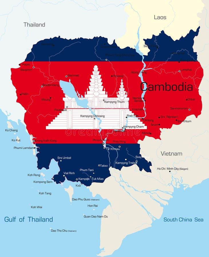 Kambodja vector illustratie