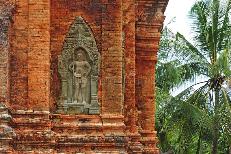 Kambodja Angkor Roluos de tempel Lolei stock fotografie