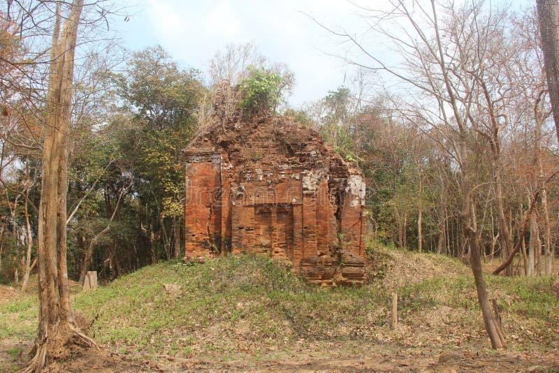 kambodja De Tempel van Krorhorm Phnom Kulen Siem oogst Provincie Siem oogst stad stock afbeelding