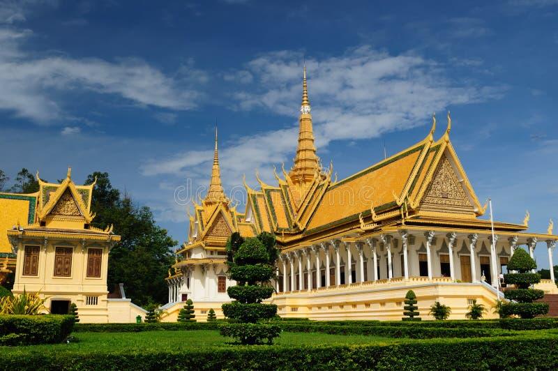 Kambodja - Royal Palace royalty-vrije stock foto