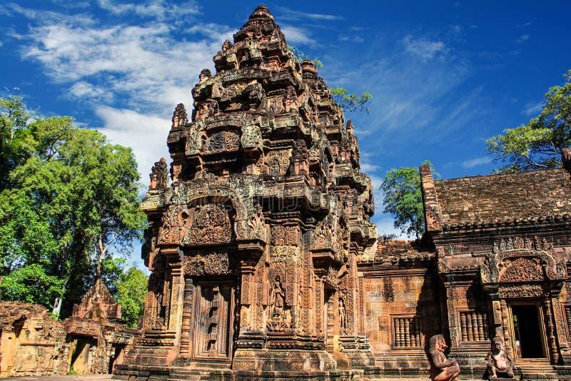 Kambodja Siem oogst Banteay Srei stock foto's