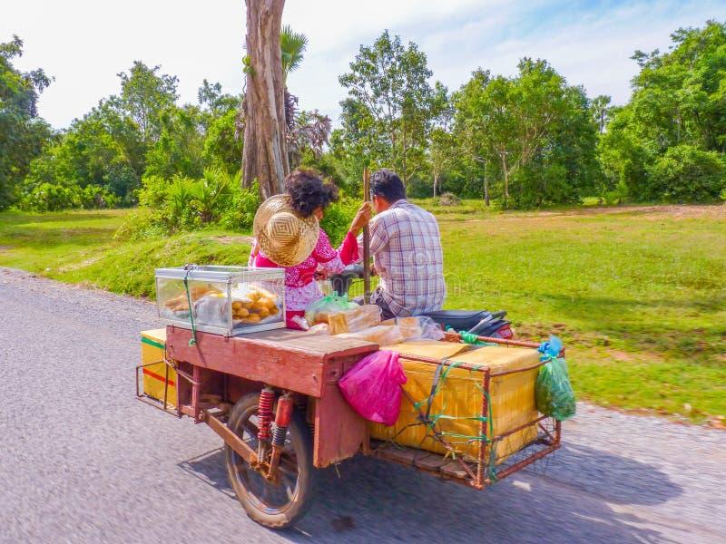 Kambodjanskt bageri på vägen arkivfoton