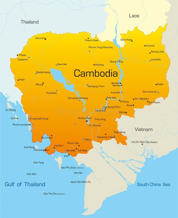 Kambodscha stock abbildung