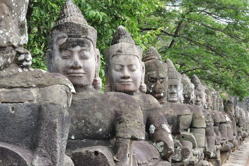 Kambodscha; Angkor; Bayon Tempel lizenzfreies stockfoto
