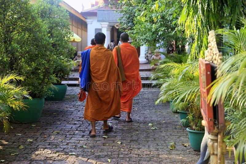 Kambodscha-Mönche lizenzfreie stockfotografie