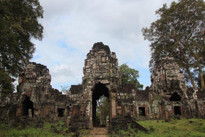 kambodscha Preah Khan Kampong Svay u. x28; Prasat Bakan u. x29; Preah- Vihearprovinz Siem- Reapstadt lizenzfreies stockfoto