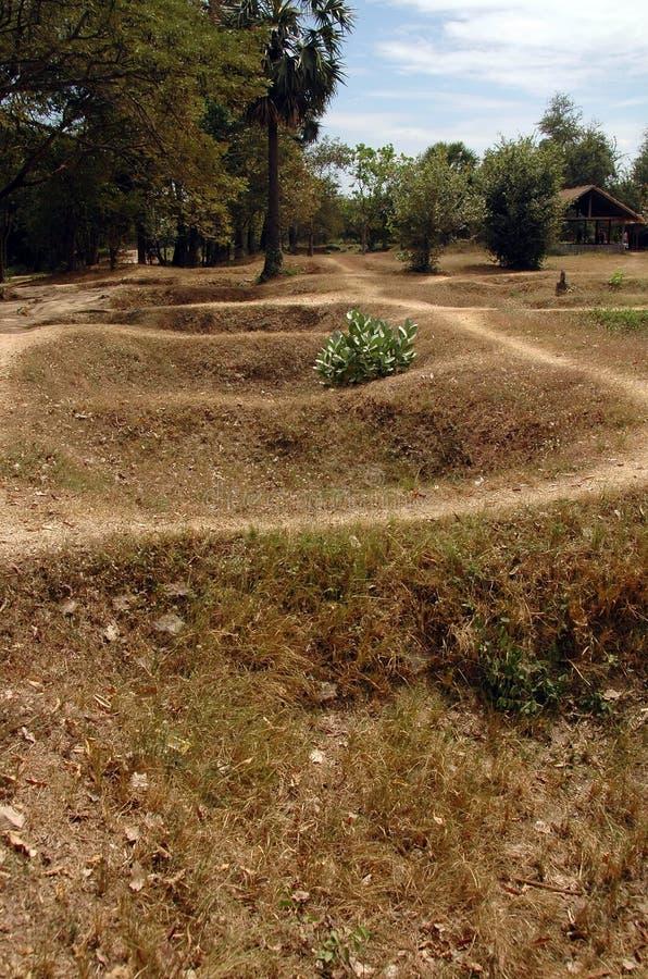 Kambodscha-Tötung-Felder - sammeln Sie Gräber an stockbilder