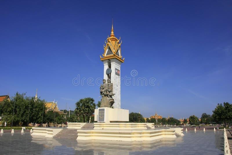 Kambodscha-Vietnam Freundschafts-Monument, Phnom Penh, Kambodscha stockfoto