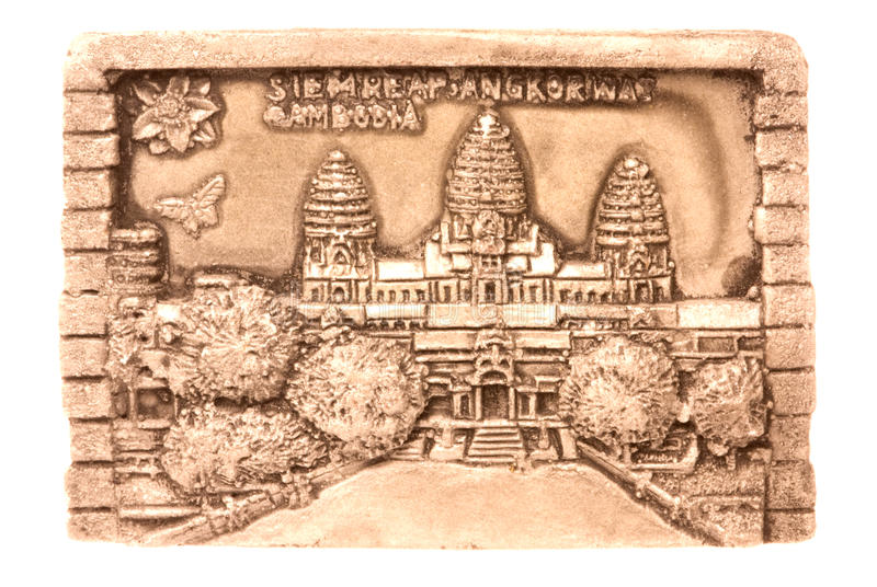 Kambodschanische Kunst getrennt stockfotografie